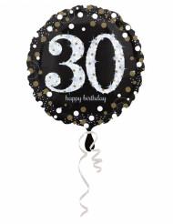 Palloncino in alluminio Happy Birthday scintillante 30 - 45 cm