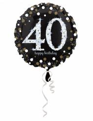 Palloncino in alluminio Happy Birthday scintillante 40 - 45 cm
