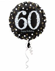 Palloncino in alluminio Happy Birthday scintillante 60 - 45 cm