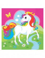 20 tovaglioli di carta Unicorno
