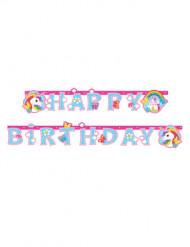 Ghirlanda Happy Birthday con unicorno