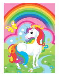 8 Sacchetti per caramelle Unicorno arcobaleno