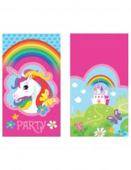 8 Inviti con busta Unicrono arcobaleno
