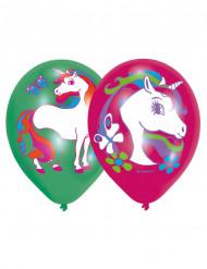 6 palloncini Unicorno