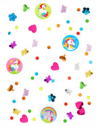 Coriandoli colorati unicorno arcobaleno