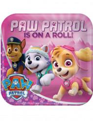 8 piatti in cartone 23 cm rosa Paw Patrol™
