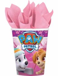 8 bicchieri in cartone rosa Paw Patrol™