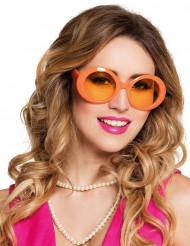 Occhiali Disco arancioni adulti