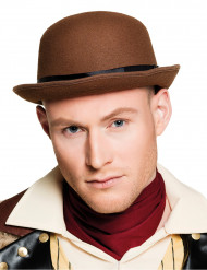 Cappello bombetta  marrone per adulto