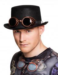 Cappello con occhiali da aviatore Steampunk