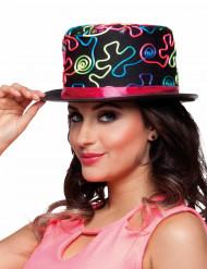 Cappello a cilindro fantasia multicolor per adulto