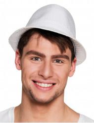Cappello borsalino con paillettes bianche per adulto