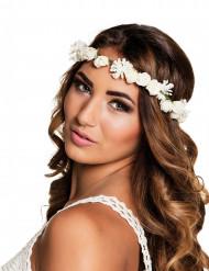 Corona di fiori bianchi adulto