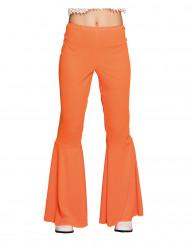 Pantaloni disco arancioni per donna