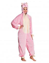 Costume da maiale rosa per adolescente