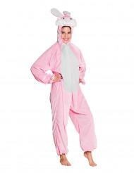 Costume da coniglio rosa per adolescente