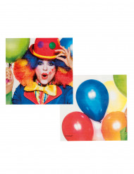 12 Tovaglioli Clown Party 33 x 33 cm