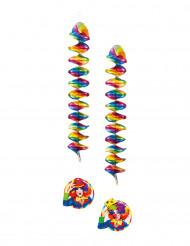 2 decorazioni a sospensione Clow Party 60 cm