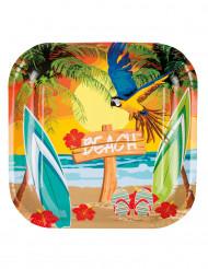 6 Piatti in cartone Beach Party 23 cm