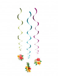3 Decorazioni a spirale Hawaii 60 cm