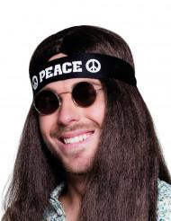Fascia nera hippie peace per adulto