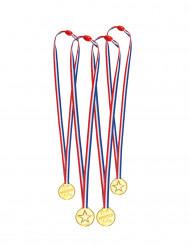 4 Mini medaglie tricolori