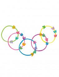 5 Braccialetti Farfalla Multicolore