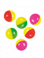 6 Palle Rimbalzanti colorate 3 cm