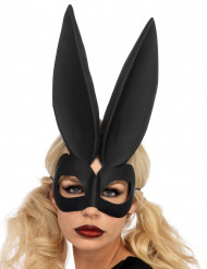 Maschera neraconiglio dalle grandi orecchie per donna