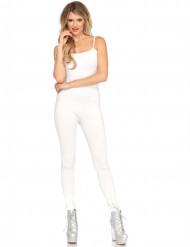 Tuta bianca body elasticizzata da donna