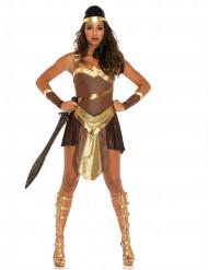 Costume da Gladiatore dorato per donna