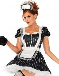 Costume da cameriera a pois sexy per donna