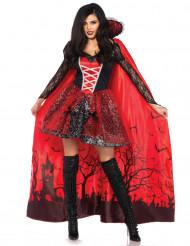 Costume Halloween Vampira seduttrice con mantello