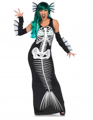 Costume Halloween scheletro da sirena