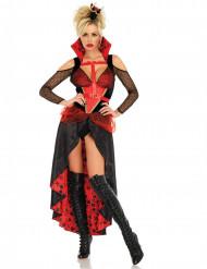 Costume da regina di carte ribelle per donna