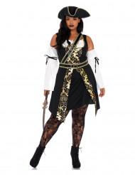 Costume da pirata degli oceani per donna taglia forte