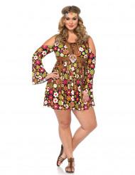 Costume hippie fiori donna