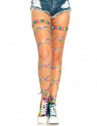 Calze autoreggent multicolore sexy per donna