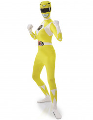 Costume seconda pelle Power Rangers™ giallo donna