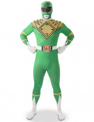Costume seconda pelle Power Rangers™ verde uomo