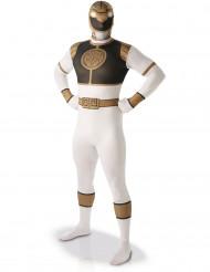 Costume seconda pelle Power Rangers™ bianco uomo