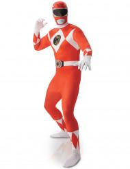 Costume seconda pelle Power Rangers™ rosso uomo