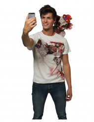 Maglia selfie con clown terrificante adulto