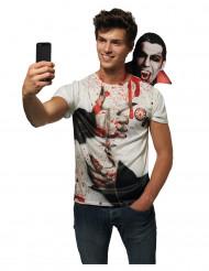 Maglietta Selfie con dracula adulto halloween