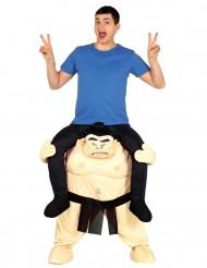 Costume da uomo sulle spalle di lottatore di sumo per adulto