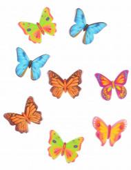 8 decorazioni farfalla per dolci in ostia