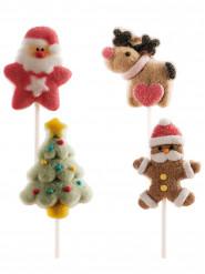 4 spiedini di Marshmallow di Natale