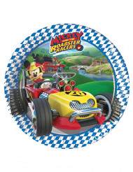 8 piattini di carta Topolino racing™