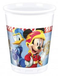 8 bicchieri in plastica Topolino racing™
