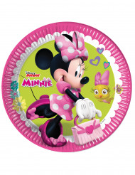 8 Piattini di carta Happy Minnie™